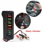 Battery Tester 12V Battery Tester Portable Car Battery Tester with 6 LEDs As shown