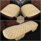Beige 3 Pcs Soft Comfortable Car Cushion