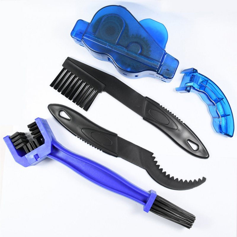 Bicycle Chain Washer Set Mountain Bike Accessory Bike Too Cleaning Brush Chain washer 4 piece set_One size