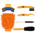 Bicycle Chain Washer Set Mountain Bike Accessory Bike Too Cleaning Brush 6-piece set_One size