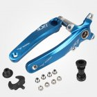 Bicycle Crank IXF Left/Right Crank + Middle Shaft Bicycle Crankset Bicycle Accessories Bike Part Blue left and right crank + center shaft