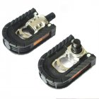 Bicycle Pedal Strong Alloy Bearing Folding Pedal black