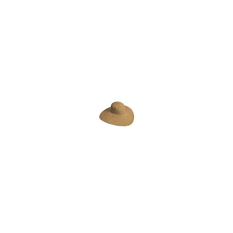 Big Beautiful Solid Color Floppy Hat, Light Brown