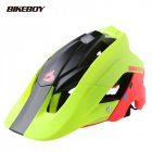 Bikeboy Bicycle Mountain Bike Helmet Riding Integrally Molded Bicycle Highway Men And Women Safe Accessories Equipment Black red yellow_Free size