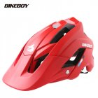 Bikeboy Bicycle Mountain Bike Helmet Riding Integrally Molded Bicycle Highway Men And Women Safe Accessories Equipment red_Free size