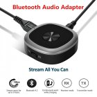 Bluetooth 4 1 Transmitter And Receiver  3 5mm Wireless Audio Adapter with APT X Low Latency And Multi Point Access for TV   Home Sound System