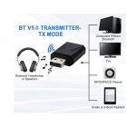 Bluetooth 5.0 Audio Receiver Transmitter Mini Stereo Bluetooth AUX RCA USB 3.5mm Jack for TV PC Car Kit Wireless Adapter black