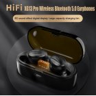 Bluetooth Headset Wireless IPX4 Waterproof Stereo Built in Sports Microphone TWS 5 0 Headset black
