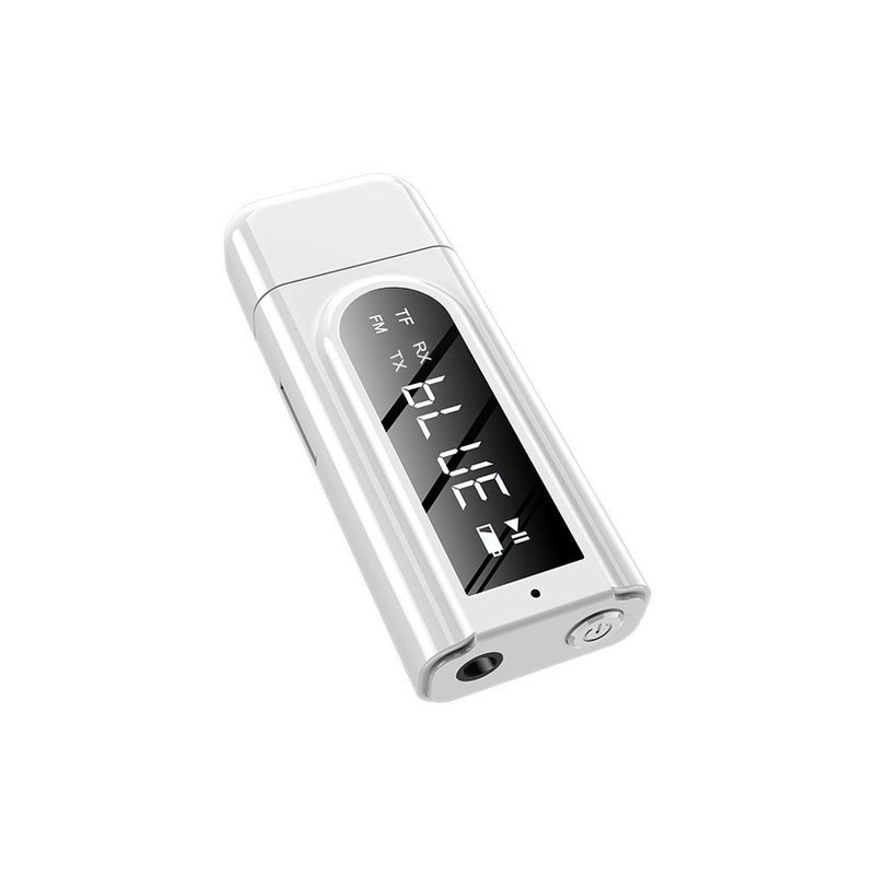 Bluetooth Receiver Transmitter LED Car FM Modulator Card Reader 3.5mm AUX Jack RCA USB Wireless Audio Adapter white
