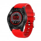 Bluetooth Sports Watch Smart Watch with Camera Fitness Monitor Support SIM Card Smartwatch  red