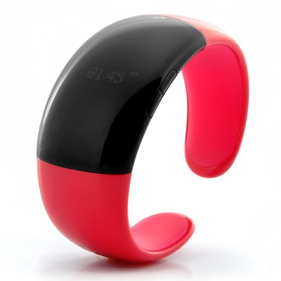 Bluetooth Bracelet w/ Time Display Red