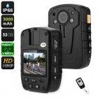 Buy Body Worn Camera - IP66, 1080p, 2-Inch Display, 140-Degree Lens, 3000mAh, Night Vision, 32GB Storage, 16X Digital Zoom