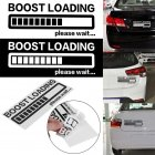 Boost Loading Car Sticker Fashion Reflective  black
