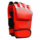 Boxing Gloves Flames Free Combat Gloves Training Sandbag Boxing Gloves red_As shown