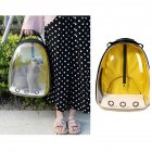 Breathable Pet Cat Dog Backpack Space Capsule Travel Bag for Outdoor Carrying yellow