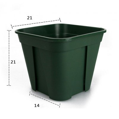 Breathable Plastic Flowerpot Cuttage Planting Plant Pot for Clematis China Rose Decoration green_large