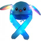 Bright Light Lovely Cartoon Jumping Animal Ears All Matching Hat Air Bladder Cap Rabbit blue