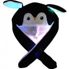 Bright Light Lovely Cartoon Jumping Animal Ears All Matching Hat Air Bladder Cap Penguin black