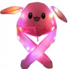 Bright Light Lovely Cartoon Jumping Animal Ears All Matching Hat Air Bladder Cap Rabbit pink