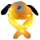 Bright Light Lovely Cartoon Jumping Animal Ears All Matching Hat Air Bladder Cap Puppy yellow