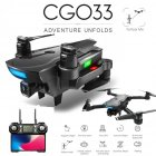 CG033 Brushless FPV Quadcopter with 4K HD Wifi Gimbal Camera RC Helicopter Foldable Drone GPS Drone Kids Gift vs SG906 F11 zen k1 3 battery