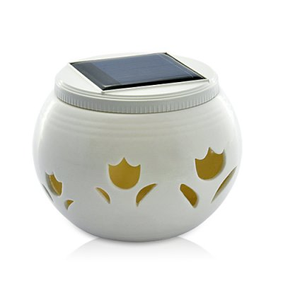 Chinese Ivory Solar LED Light Jar