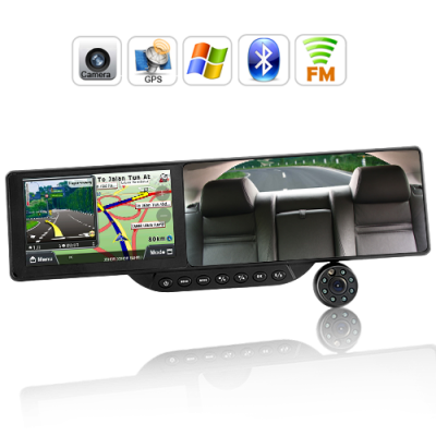 Wholesale Bluetooth Rearview Mirror With Built In Gps