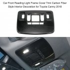Car Front Reading Light Lamp Frame Cover Trim Carbon Fiber Texture Cover Fit For Toyota Camry 2018