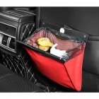 Car LED Trash Garbage Can Auto Hanging Type Dust Case Holder Bin red