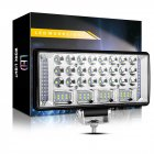 Car LED Work Light Combo Beam 12 24V Spot Flood LED Driving Light Yellow+white+yellow