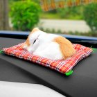 Car Ornaments Simulation Sleeping Cats