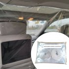 Car Taxi Isolation Film Anti-Fog Full Surround Protective Cover Net Cab Rear Row white