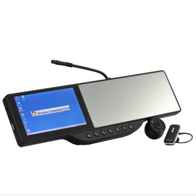 GPS Car Rearview Mirror w/ DVR + Camera