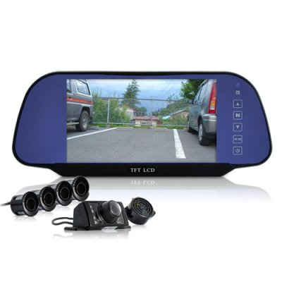 Car Mirro Set w/ 4 Sensors + Backup Camera