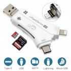 Card Reader 4-1 OTG Multi-function Usb for Iphone/ipad/macbook/android/camera white