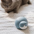 Cartoon Cat Shape Explosion Proof Silicone Hot Water Bag Hand Warmer blue 16   12   10cm