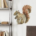 Cartoon Squirrel Wall Sticker Self Adhesive Removable Kids Room Decoration Decal 29*30.8CM typesetting