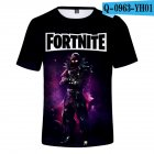 Casual 3D Cartoon Pattern Round Neck T-shirt Picture color V_XS