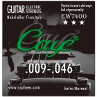 Caye EW Series 6 Pcs Electric Guitar Strings Hexagonal Carbon Steel Nickel Plating Guitar String EW7400