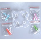 Cheerson CX 10 Part White Blade Guard Cover Protector with 16PCS Propeller Blade Blue Green Red Purple for RC Toy Enthusiasts