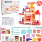 Children Big Kitchen Set Pretend Play Toys Cooking Food Miniature Play Do House Education Toy Gift for Girl Kid