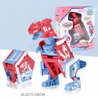 Children Creative Deformation Robot Enlightenment Puzzle DIY Building Block Toy Assembled Dinosaur 2#