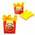 Children Cute Pretend Play Simulation Fruit Vegetable Set for Kids   French fries