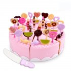 Children Cute Pretend Play Simulation Fruit Vegetable Set for Kids   43PCS Cake set  pink