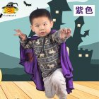 Children Halloween Costumes Ox Horn Devil Cloak Cute Cosplay Costume purple