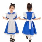 Children Kids Dress Maid Cosplay Cute Dress for Halloween Festival Wearing blue L
