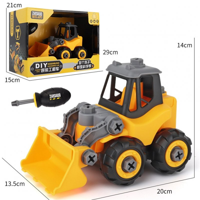 Children Take Apart Construction Educational DIY Engineering Vehicle Toys Gifts for Kids Bulldozer