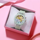 Children's Watch Cartoon Cute Translucent Luminous Silicone LED Watch green