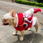 Christmas Coat Santa Claus Rides Deer Shape Costume for Pet Dog Party Cosplay S