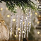 Christmas Decorations Icicle Pendant Christmas Tree Decoration Transparent_12pcs
